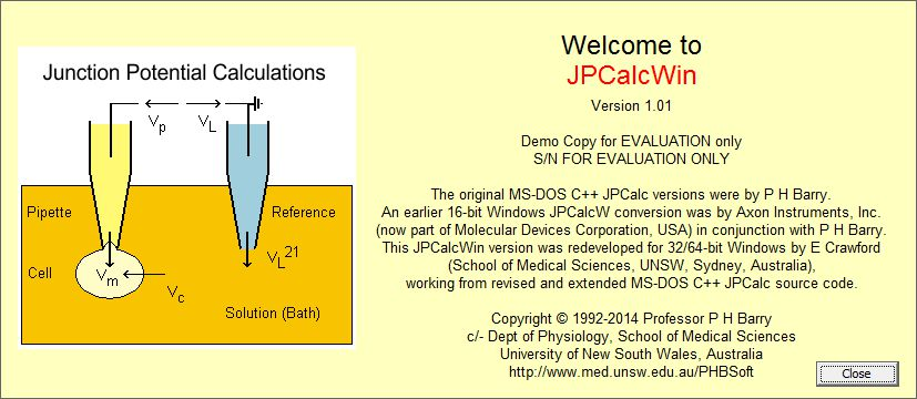 JPCalcWin Demo - welcome screen