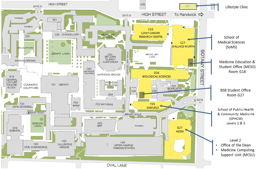 map of unsw campus Location Maps School Of Medical Sciences map of unsw campus